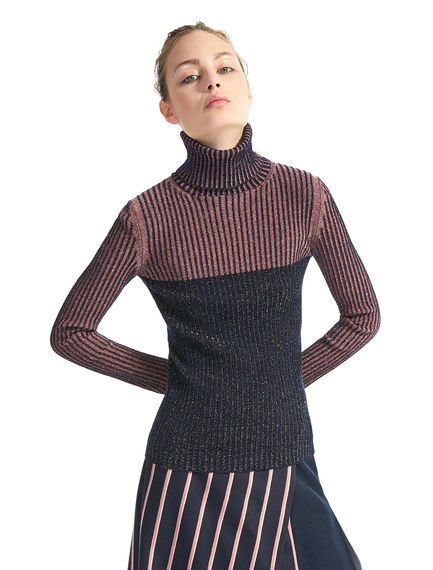 Lurex & Wool Polo-neck Sweater Sportmax