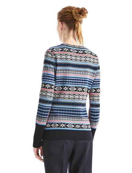 Lace-up Nordic Sweater