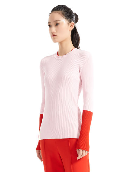 Colour-block Viscose Sweater