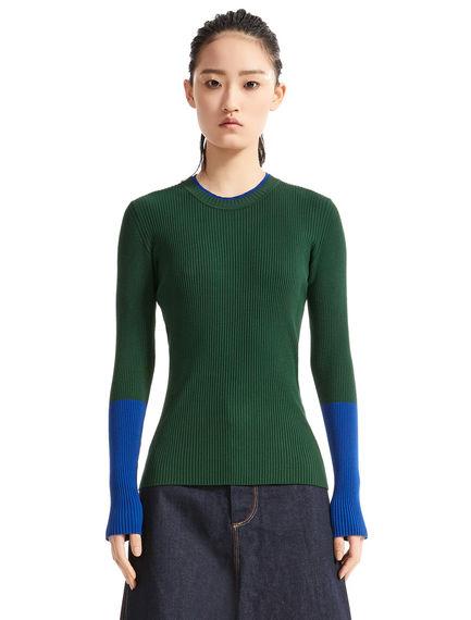 Colour-block Viscose Sweater