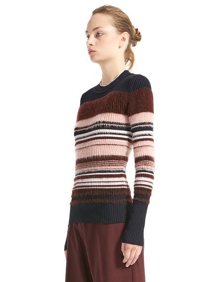 Colour-block Mohair Sweater