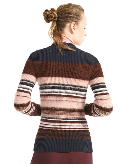 Colour-block Mohair Sweater