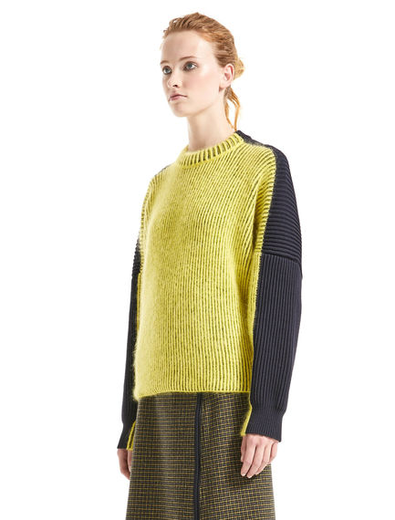 Colour-block Alpaca Sweater