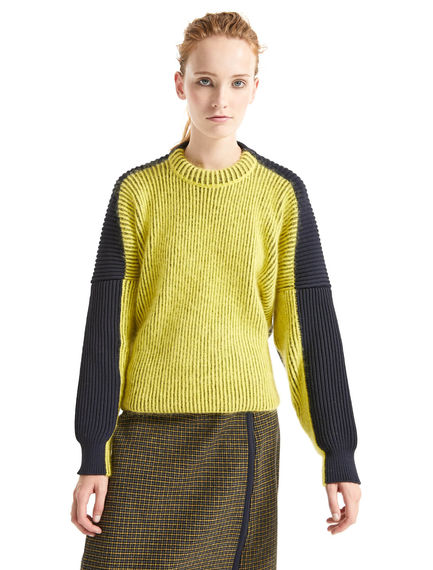 Colour-block Alpaca Sweater Sportmax