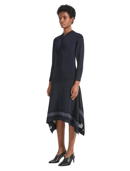 Needle punched Viscose Knit Dress