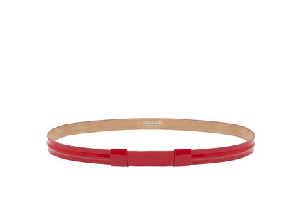 Streamlined Patent Leather Belt
