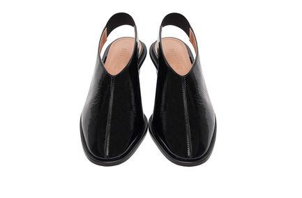 Naplak Leather Slingbacks