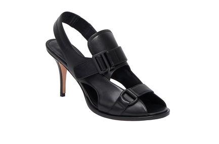 Sandali alti con doppia fibbia