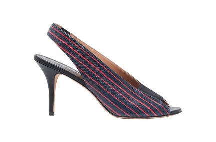 Striped Peep-toe Stilettos Sportmax