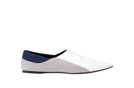 Colour-block Calfskin Flats Sportmax