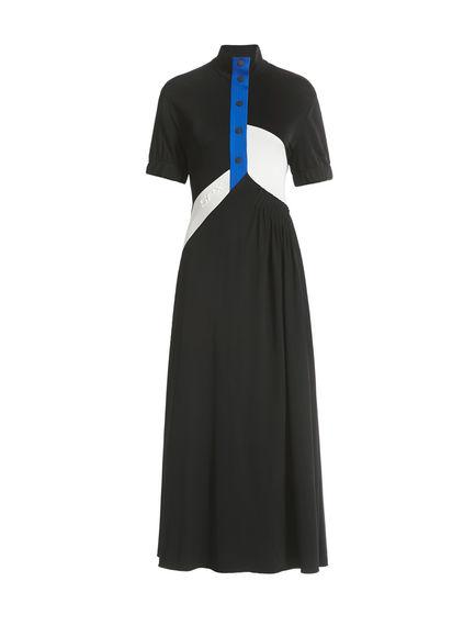 Colour-block Balloon-sleeve Dress