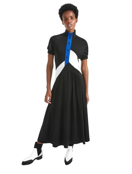 Colour-block Balloon-sleeve Dress Sportmax