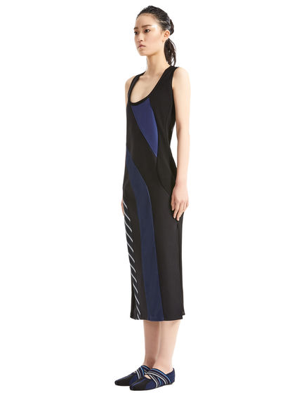 Contrast Panel Vest Dress Sportmax