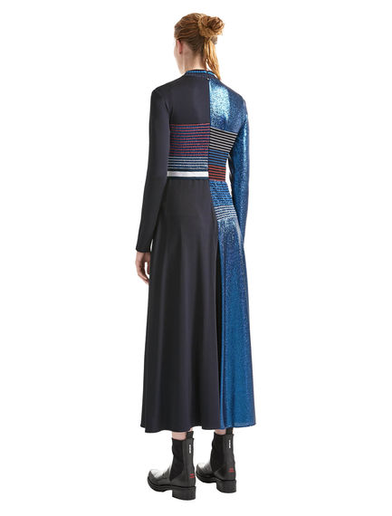 Smocked Lurex Jersey Dress