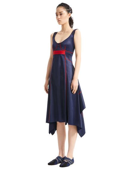 Glossy Jersey Handkerchief Dress