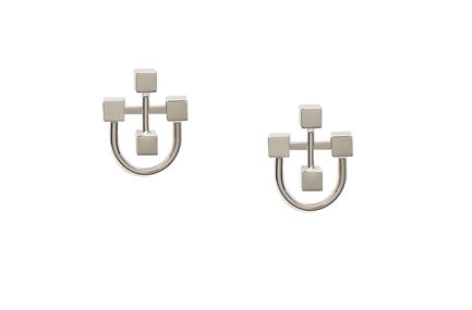 Interlocking Cube Earrings