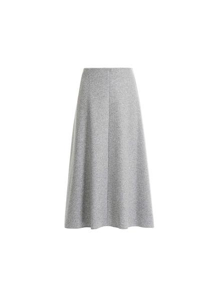Wool Jersey Flared Skirt