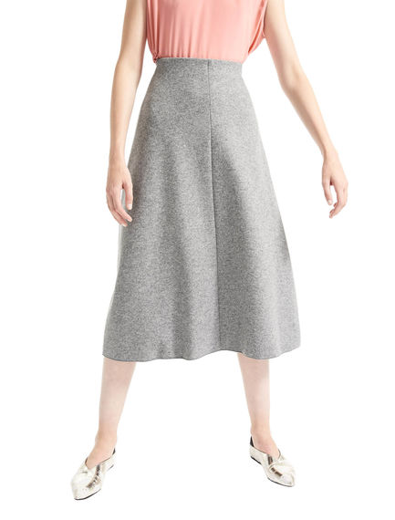 Wool Jersey Flared Skirt Sportmax