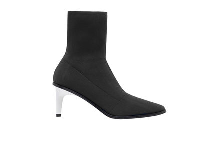 Sculptural Heel Sock Boots