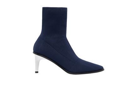 Sculptural Heel Sock Boots