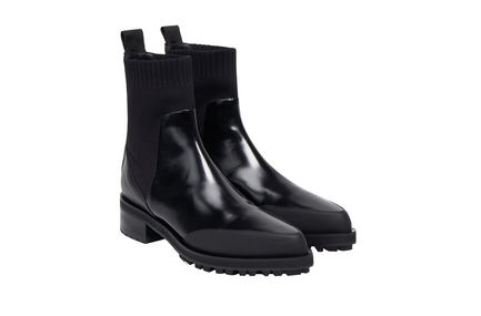 Two-tone Calfskin Ankle Boot