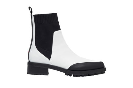 Two-tone Calfskin Ankle Boot Sportmax
