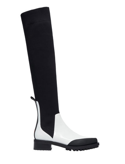 Over the Knee Calfskin Boots Sportmax