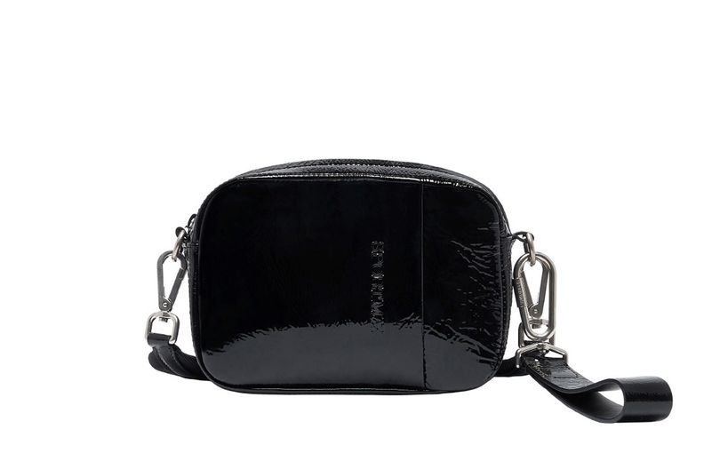 Black Leather Naplak Convertible Sportmax Bag RgFxqnZPvw