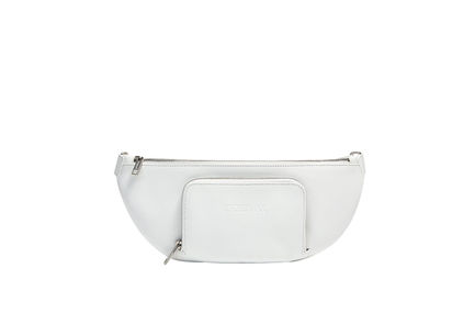 Belt bag in nappa con cintura a contrasto