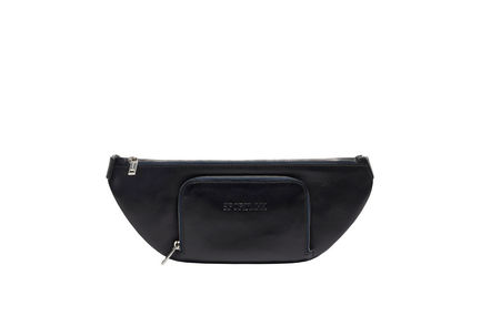 Streamlined Nappa Leather Pouch Bag
