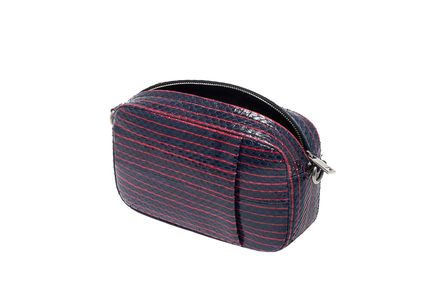 Convertible Striped Leather Bag