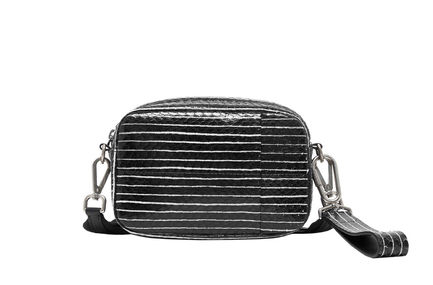 Convertible Striped Leather Bag Sportmax