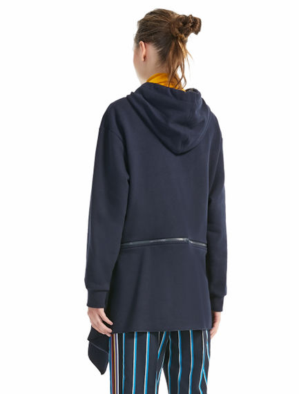 Zip-back Hooded Sweatshirt