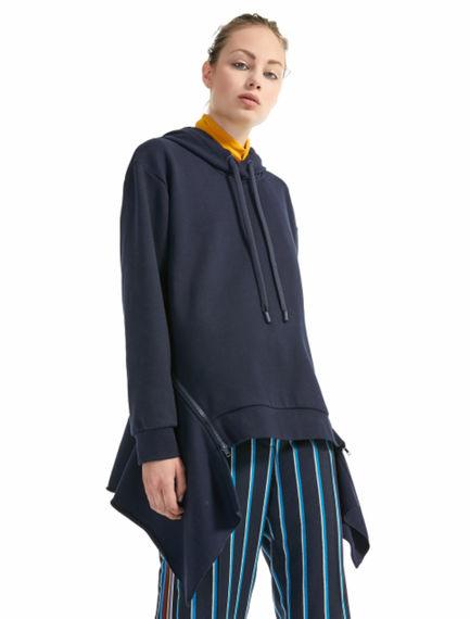 Felpa hoodie con zip sul retro Sportmax