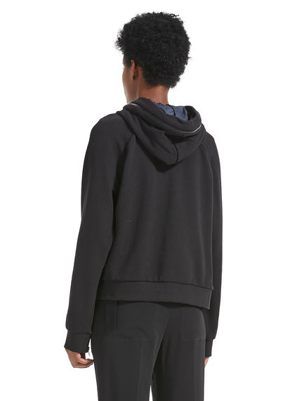 Jersey Double Hooded Sweatshirt