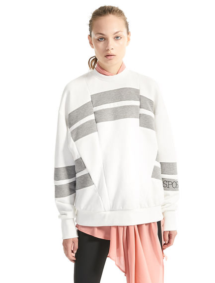 Graphic Stripe Sweatshirt Sportmax