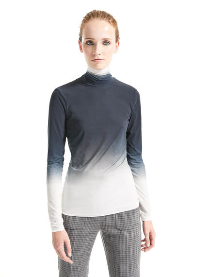 Shadow Print Polo Neck Top Sportmax