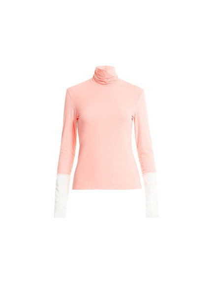 Funnel Neck Jersey Sweater
