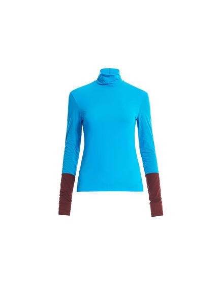 Maglia in jersey con collo alto