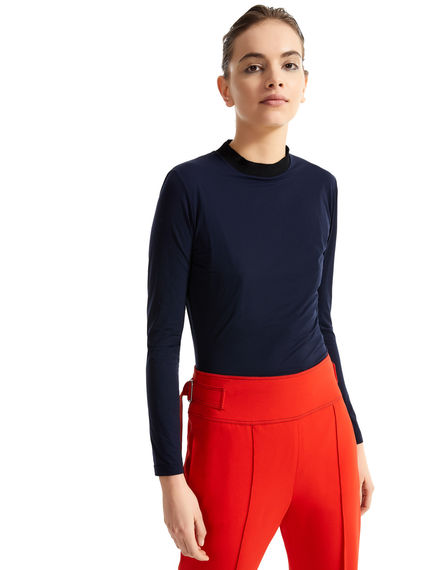Fitted Cotton Jersey Top Sportmax