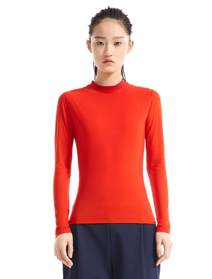 Fitted Cotton Jersey Top