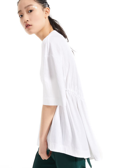 T-shirt in cotone con coulisse Sportmax