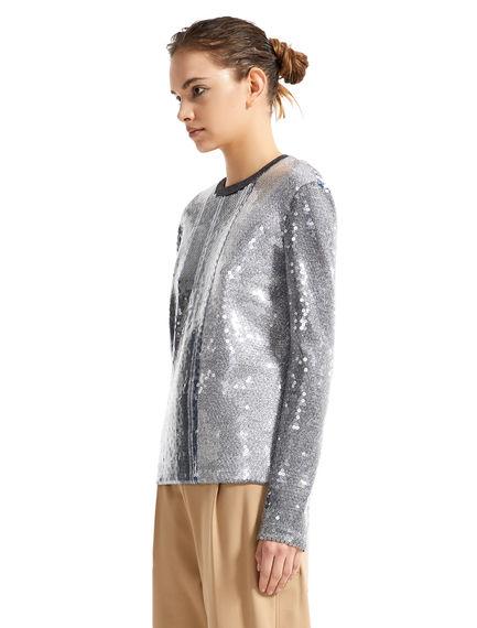 Striped Metallic Sequin Sweater