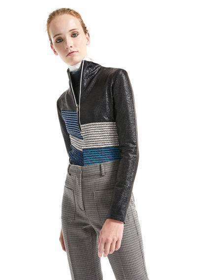 Smocked Lurex Jersey Top Sportmax