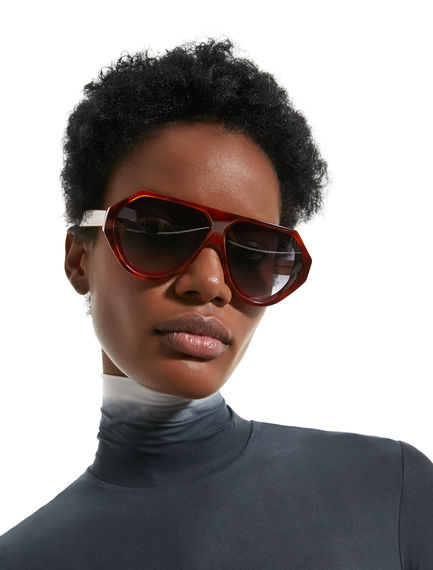 Layered Acetate Sunglasses Sportmax