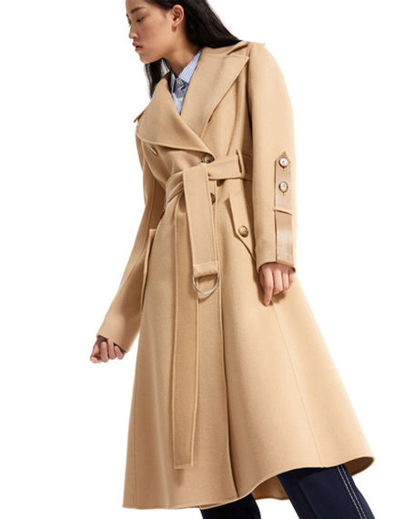 Bonded Wool Trench Coat Sportmax
