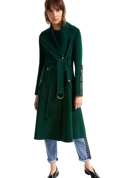 Bonded Wool Trench Coat