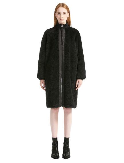 Wool Fur Cocoon Coat