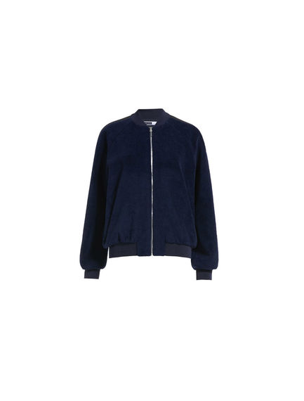 Cotton and mohair bomber jacket