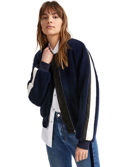 Cotton and mohair bomber jacket Sportmax